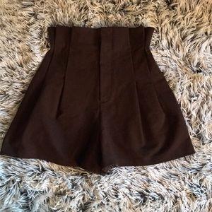 Brown paper- bag shorts